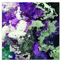 Background Abstract With Green And Purple Hues Large Satin Scarf (square) by Simbadda