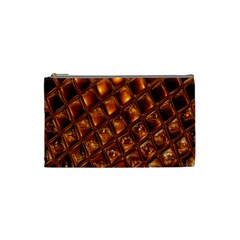 Caramel Honeycomb An Abstract Image Cosmetic Bag (small)  by Simbadda