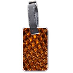Caramel Honeycomb An Abstract Image Luggage Tags (one Side)  by Simbadda