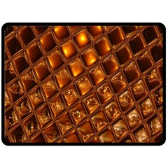 Caramel Honeycomb An Abstract Image Double Sided Fleece Blanket (large)  by Simbadda