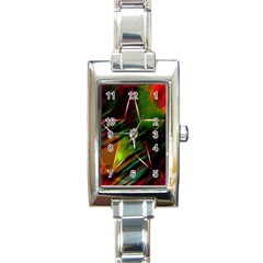 Colorful Background Star Rectangle Italian Charm Watch by Simbadda
