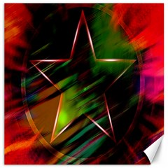 Colorful Background Star Canvas 16  X 16   by Simbadda