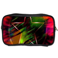 Colorful Background Star Toiletries Bags 2 Side by Simbadda