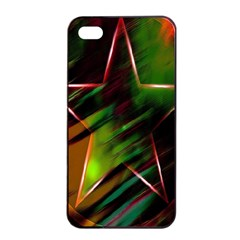 Colorful Background Star Apple Iphone 4/4s Seamless Case (black) by Simbadda