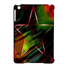Colorful Background Star Apple Ipad Mini Hardshell Case (compatible With Smart Cover) by Simbadda