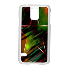 Colorful Background Star Samsung Galaxy S5 Case (white) by Simbadda
