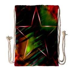 Colorful Background Star Drawstring Bag (large) by Simbadda