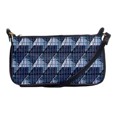 Snow Peak Abstract Blue Wallpaper Shoulder Clutch Bags by Simbadda