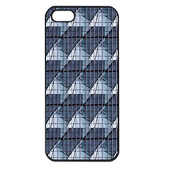 Snow Peak Abstract Blue Wallpaper Apple Iphone 5 Seamless Case (black) by Simbadda