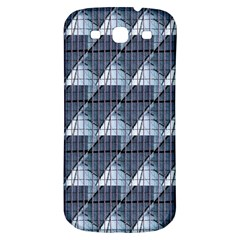 Snow Peak Abstract Blue Wallpaper Samsung Galaxy S3 S Iii Classic Hardshell Back Case by Simbadda
