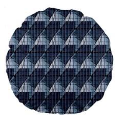 Snow Peak Abstract Blue Wallpaper Large 18  Premium Flano Round Cushions by Simbadda