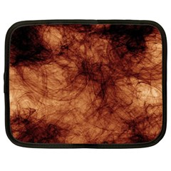 Abstract Brown Smoke Netbook Case (xxl)  by Simbadda