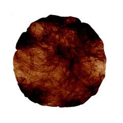 Abstract Brown Smoke Standard 15  Premium Round Cushions by Simbadda