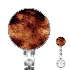 Abstract Brown Smoke Stainless Steel Nurses Watch by Simbadda