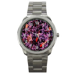 Abstract Painting Digital Graphic Art Sport Metal Watch by Simbadda