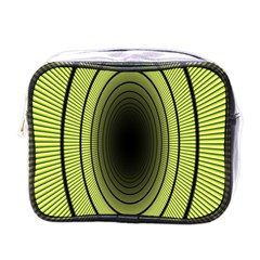 Spiral Tunnel Abstract Background Pattern Mini Toiletries Bags by Simbadda