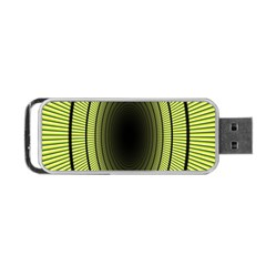Spiral Tunnel Abstract Background Pattern Portable Usb Flash (two Sides) by Simbadda