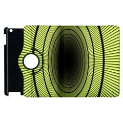 Spiral Tunnel Abstract Background Pattern Apple Ipad 2 Flip 360 Case by Simbadda