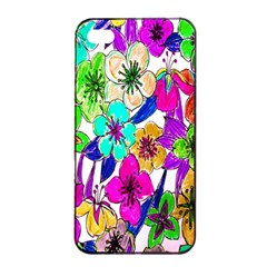 Floral Colorful Background Of Hand Drawn Flowers Apple Iphone 4/4s Seamless Case (black) by Simbadda