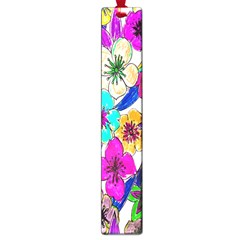 Floral Colorful Background Of Hand Drawn Flowers Large Book Marks by Simbadda