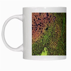 Lena River Delta A Photo Of A Colorful River Delta Taken From A Satellite White Mugs by Simbadda