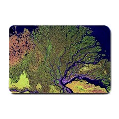 Lena River Delta A Photo Of A Colorful River Delta Taken From A Satellite Small Doormat  by Simbadda
