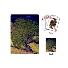 Lena River Delta A Photo Of A Colorful River Delta Taken From A Satellite Playing Cards (mini)  by Simbadda