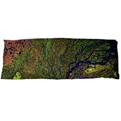 Lena River Delta A Photo Of A Colorful River Delta Taken From A Satellite Body Pillow Case Dakimakura (Two Sides) by Simbadda