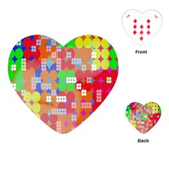 Abstract Polka Dot Pattern Digitally Created Abstract Background Pattern With An Urban Feel Playing Cards (heart)  by Simbadda