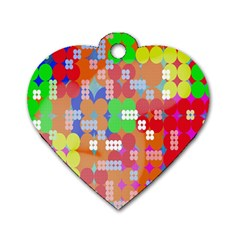 Abstract Polka Dot Pattern Digitally Created Abstract Background Pattern With An Urban Feel Dog Tag Heart (two Sides) by Simbadda