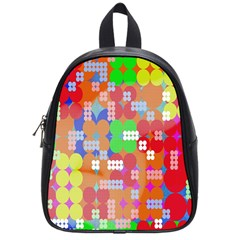 Abstract Polka Dot Pattern Digitally Created Abstract Background Pattern With An Urban Feel School Bags (small)  by Simbadda
