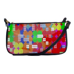 Abstract Polka Dot Pattern Digitally Created Abstract Background Pattern With An Urban Feel Shoulder Clutch Bags by Simbadda