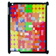 Abstract Polka Dot Pattern Digitally Created Abstract Background Pattern With An Urban Feel Apple Ipad 2 Case (black) by Simbadda