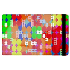 Abstract Polka Dot Pattern Digitally Created Abstract Background Pattern With An Urban Feel Apple Ipad 3/4 Flip Case by Simbadda
