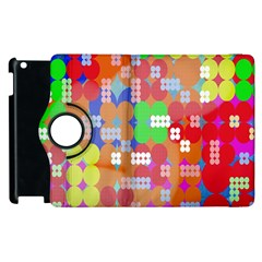 Abstract Polka Dot Pattern Digitally Created Abstract Background Pattern With An Urban Feel Apple Ipad 2 Flip 360 Case by Simbadda