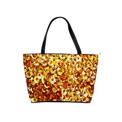 Yellow Abstract Background Shoulder Handbags by Simbadda