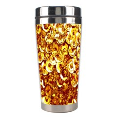 Yellow Abstract Background Stainless Steel Travel Tumblers by Simbadda