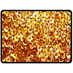 Yellow Abstract Background Double Sided Fleece Blanket (large)  by Simbadda