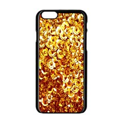 Yellow Abstract Background Apple Iphone 6/6s Black Enamel Case by Simbadda
