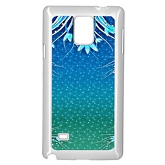 Floral 2d Illustration Background Samsung Galaxy Note 4 Case (white) by Simbadda