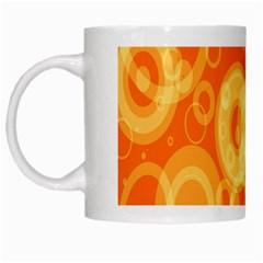 Retro Orange Circle Background Abstract White Mugs by Nexatart