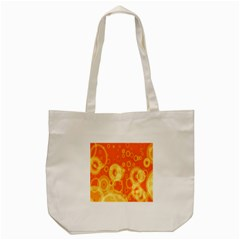 Retro Orange Circle Background Abstract Tote Bag (cream) by Nexatart