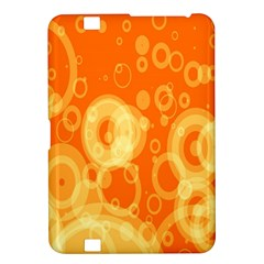 Retro Orange Circle Background Abstract Kindle Fire Hd 8 9  by Nexatart
