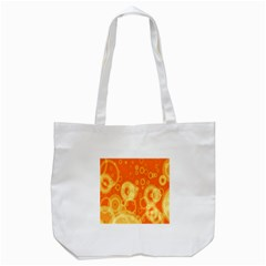 Retro Orange Circle Background Abstract Tote Bag (white) by Nexatart