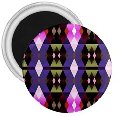 Geometric Abstract Background Art 3  Magnets by Nexatart