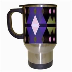 Geometric Abstract Background Art Travel Mugs (white) by Nexatart