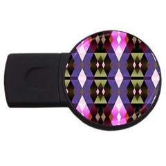 Geometric Abstract Background Art Usb Flash Drive Round (4 Gb) by Nexatart