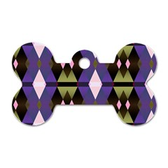 Geometric Abstract Background Art Dog Tag Bone (two Sides) by Nexatart