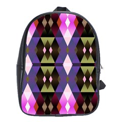 Geometric Abstract Background Art School Bags(large)
