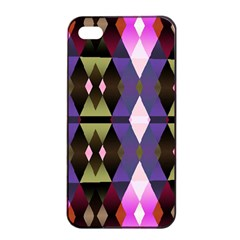 Geometric Abstract Background Art Apple Iphone 4/4s Seamless Case (black) by Nexatart